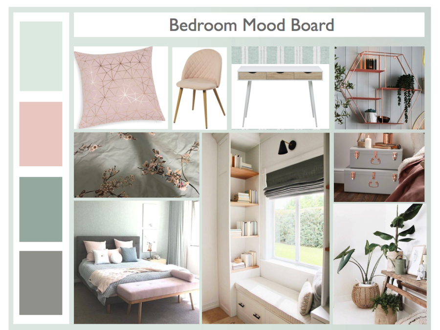 Living room Moodboard. Teal and Yellow colour scheme